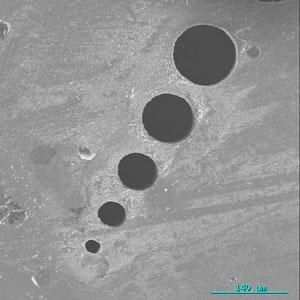 Microscopic holes