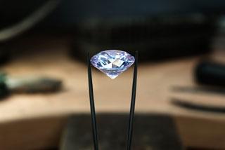 close-up on a diamond