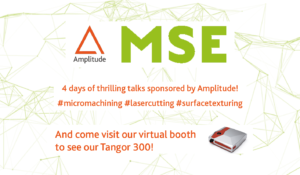 Visual featuring the participation of Amplitude to MSE2020
